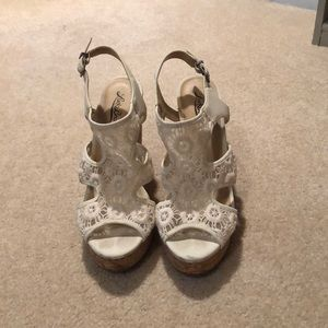 Lucky Brand Cork Wedges